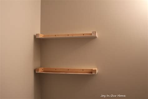 Diy Floating Shelf by Easy Diy Floating Shelves Tutorial In Our Home