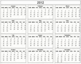calendar template 2012 calendar 2012 your title