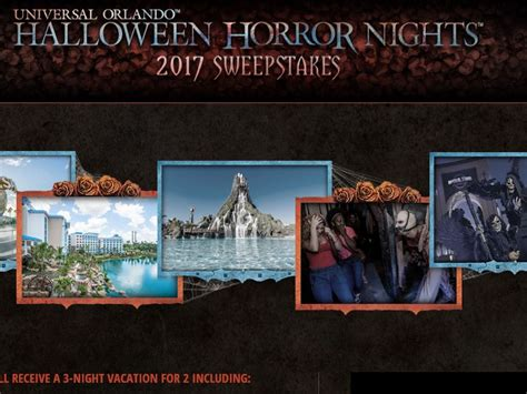 Universal Studios Sweepstakes 2017 - universal orlando halloween horror nights 2017 sweepstakes