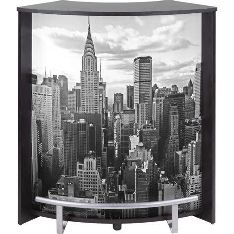meuble comptoir meuble comptoir bar noir imprim 233 96 cm beaux meubles pas