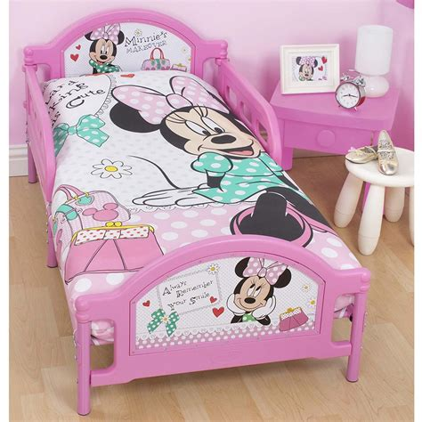 minnie mouse toddler bed minnie mouse makeover junior toddler bed with mattress new ebay