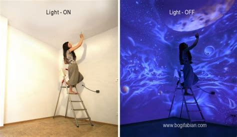 glow in the paint for your room wonderful glow in the room painting when lights go