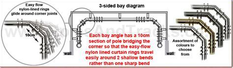 5 sided curtain pole for bay window bay window curtain poles for 3 and 5 sided bays poles and