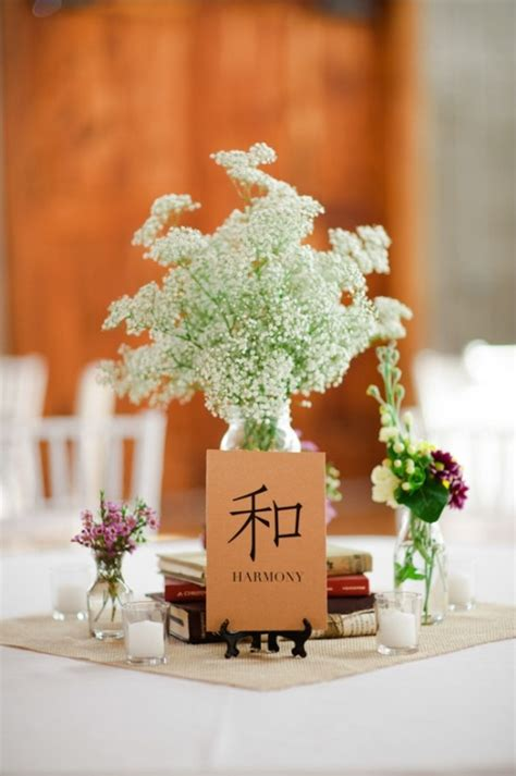 asian wedding table centerpieces some with your table numbers