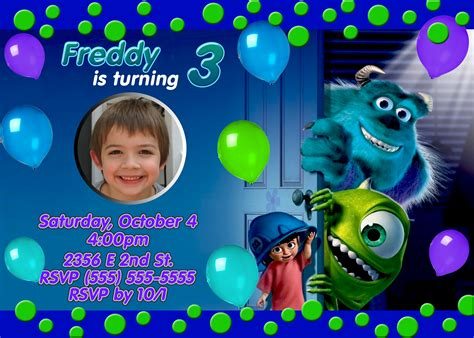 Monsters Inc 2 University Birthday Invitation Kustom Kreations Monsters Inc Birthday Invitations Template