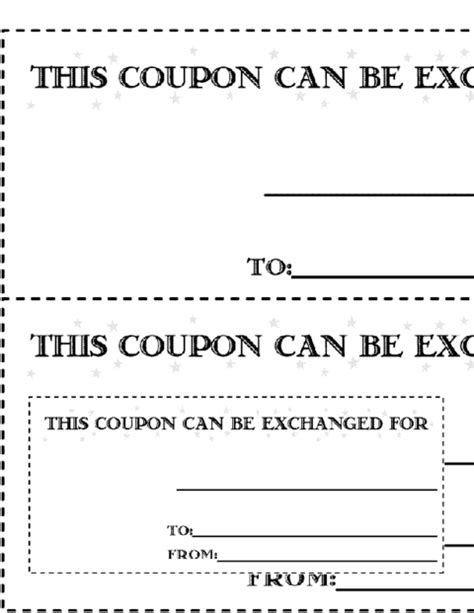 coupon cards template word 11 free coupon templates word excel pdf formats