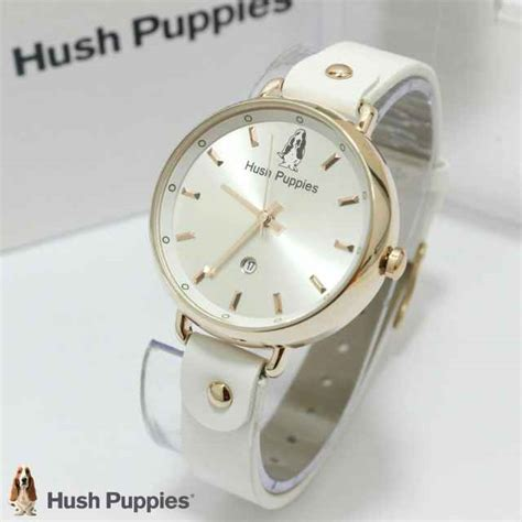 jual jam tangan hush puppies hp 3802 tali kulit ring gold