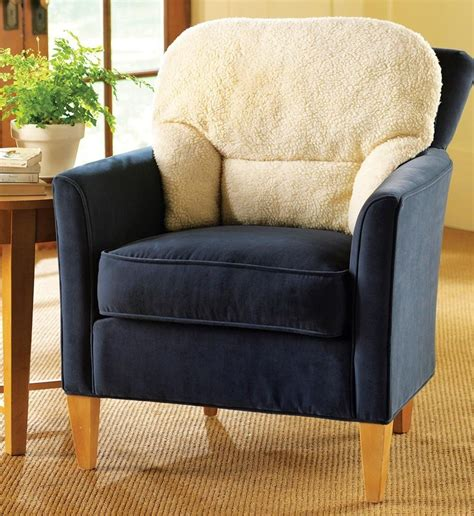 armchair fleece back rest lumbar support aid cushion new