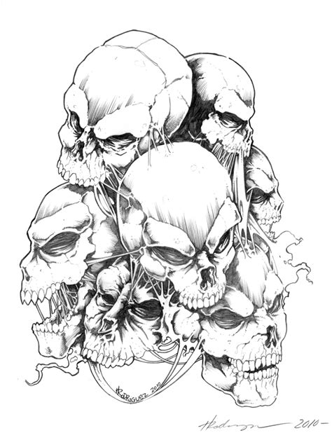 scary skull tattoo designs extraordinary skulls design sketch tattoomagz