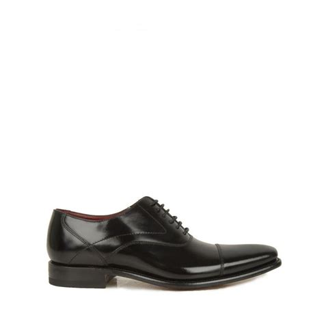 loake oxford shoes lyst loake polished oxford shoes in black for save 57
