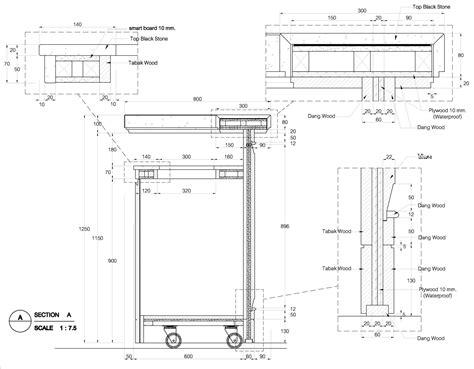 kitchen design details bar counter detail drawing google search detale
