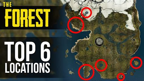 yacht the forest top 6 base locations the forest youtube