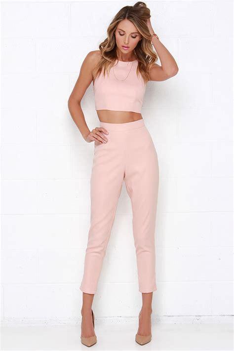 Kutubaru Aulia Set Pink 2 blush pink two set two jumpsuit 59 00
