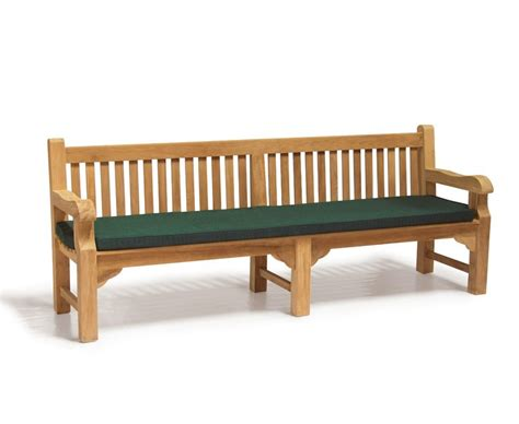 park bench seat cushions 2 4m outdoor park bench cushion to fit balmoral taverners tribute