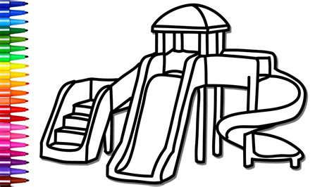 playground coloring pages how to draw and color playground nursery rhymes the