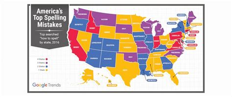 top misspelled words by state reveals the top misspelled word in every state abc news