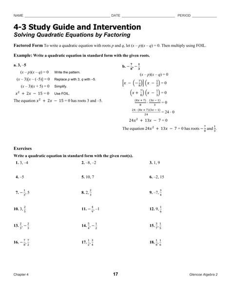Solve By Factoring Worksheet by Uncategorized Quadratic Factoring Worksheet