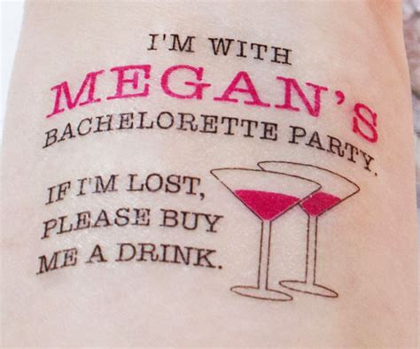 bachelorette party tattoos tattoo collections