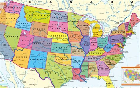 political map of usa political map einfon
