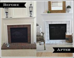 before and after fireplace diy fireplace makeover via mohawk creative home 11