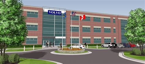 landmark builders landmark breaks ground  volvo group north america office landmark builders