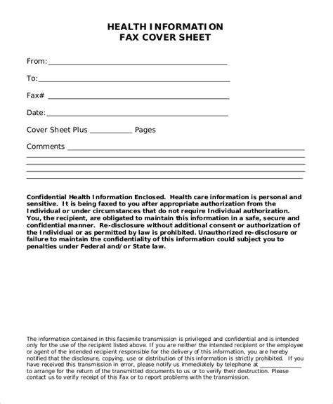 blank fax cover page pdf sle blank fax cover sheets 8 documents in word pdf