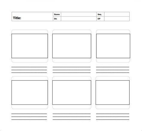 A3 Storyboard Template Invitation Template Pdf Presentation Template