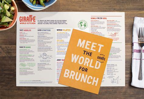 World Kitchen Menu by Brand New New Name Logo And Identity For Giraffe World Kitchen By Ragged Edge