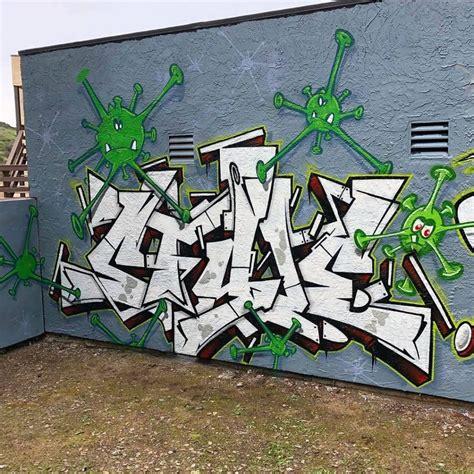 covid graffiti bombing science