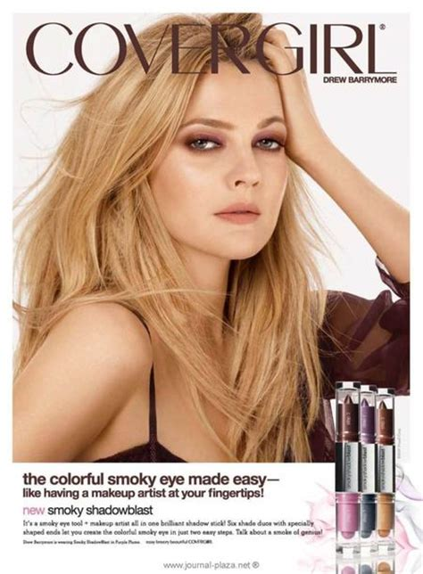 Drew Barrymore Signs Major Caign With Covergirl Cosmetics by Are You Buying This Endorsement Yummymummyclub Ca