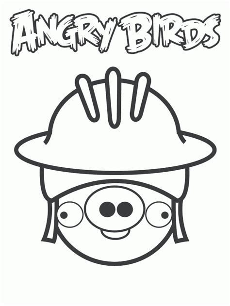 angry birds bad piggies coloring pages free angry birds helmet pig coloring pages
