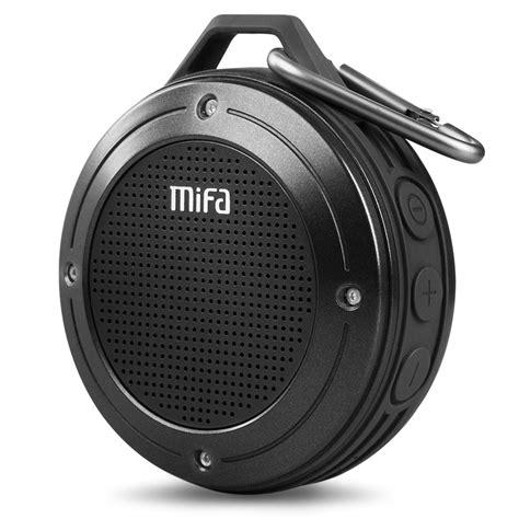 Mifa Waterproof Bluetooth Speaker With Carabiner F10 mifa f10 outdoor wireless bluetooth 4 0 stereo portable speaker built in mic shock resistance