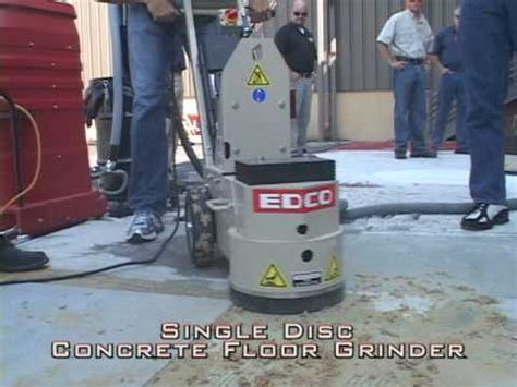 Concrete Floor Sander Rental by See Single Disc Concrete Floor Grinder From Edco Classic