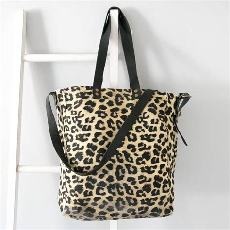 Tas Fs Tote Bag 811vkb personalised leopard print tote bag by saywhatyouc notonthehighstreet
