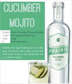 Spirits Cabinet Cucumber Mojito Recipe And Prairie Organic Spirits Review