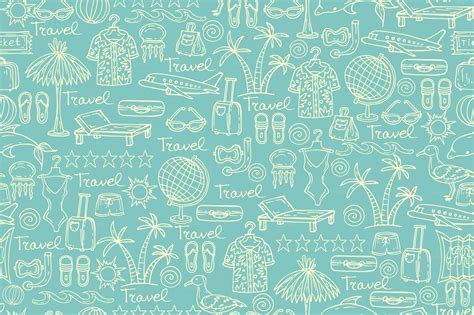 patterns with pattern with travel symbols on blue patterns on creative
