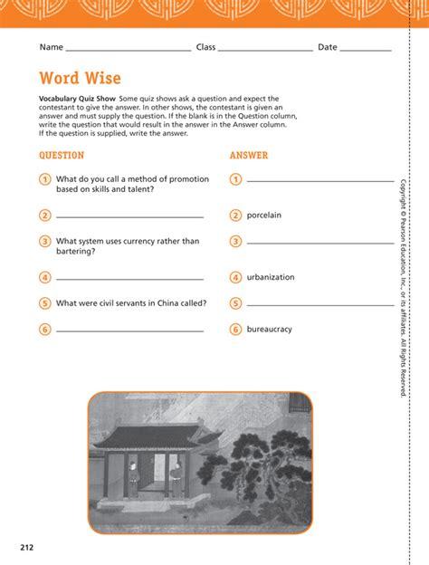 world building guide workbook books social studies programs pearson myworld history a