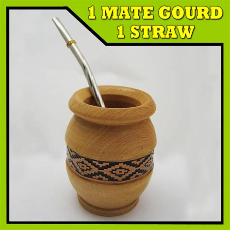 Mate Detox Tea by Argentina Mate Gourd Yerba Tea Cup With Straw Bombilla