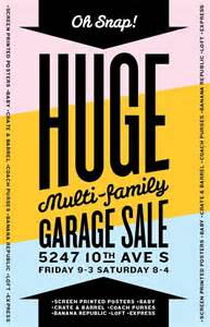 usually garage sale signs aren t to look at