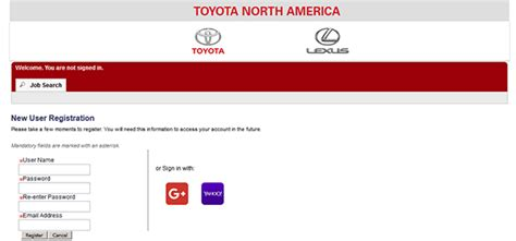 toyota online account toyota job application apply online