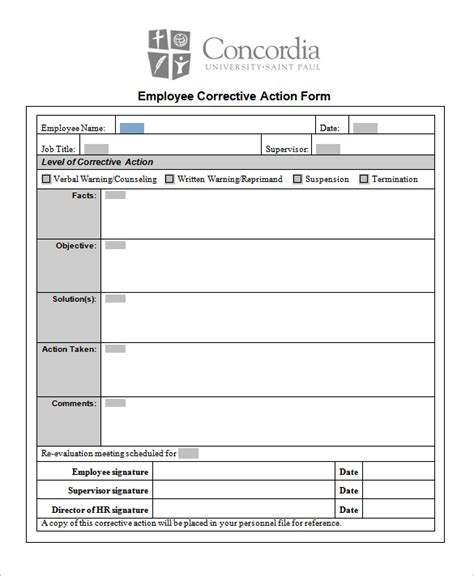 employee corrective plan template project plan template excel microsoft excel