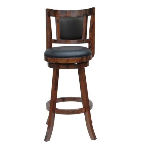 Really Stool by 29 Quot Swivel Bar Stool In Walnut Finish 62529