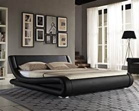 King Size Leather Bed Frames Bed Faux Leather King Size Frame Modern Italian Designer Bed And Mattress Ebay