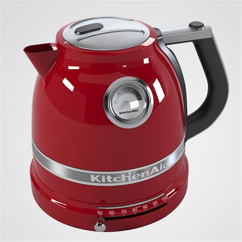 Kitchenaid Artisan Kettle Grey Artisan Jug Kettle 3d Model