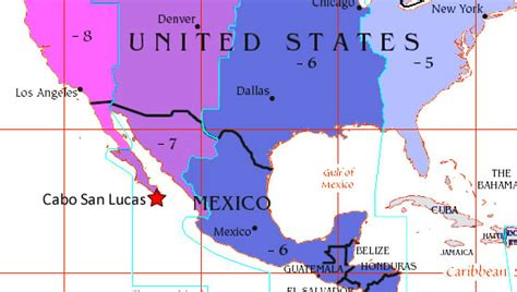 map of us and mexico time zones what time zone is cabo san lucas in
