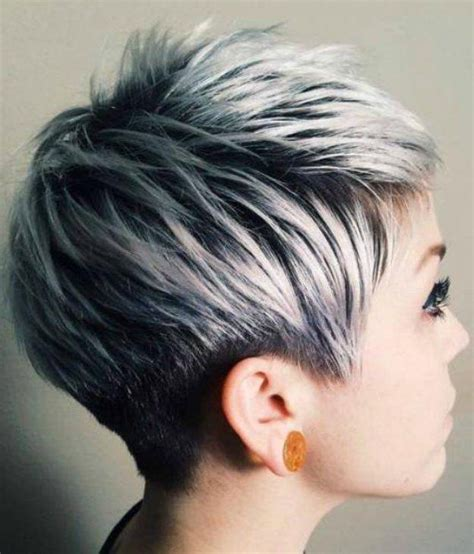pixie transition to gray pixie transition to gray 20 best ideas of grey pixie haircuts