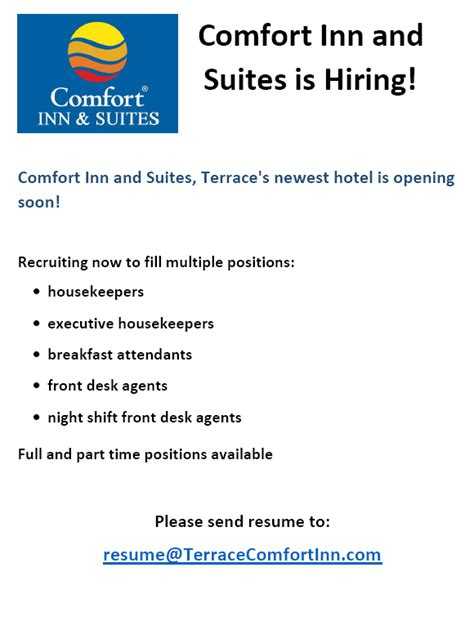 comfort inn application kitsumkalum community