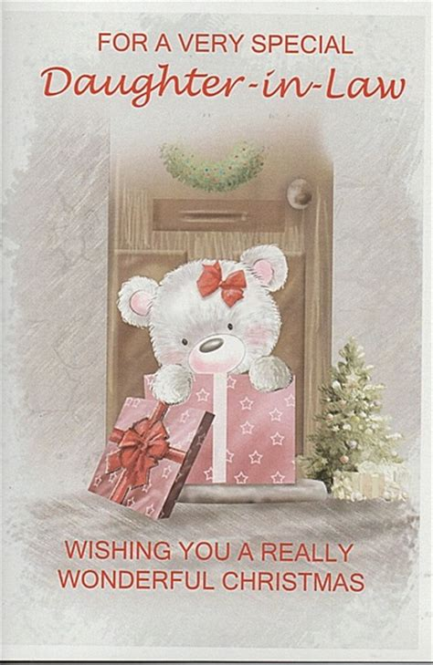 female relation christmas cards    special daughter  law