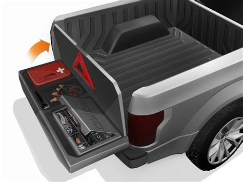 truck bed storage box inside creation of ford s atlas concept pickup tough