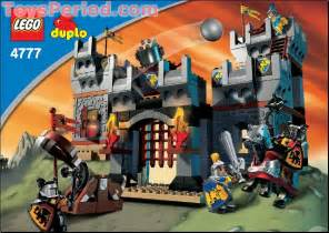 Lego 4777 duplo knights castle set parts inventory and